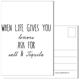 KAART / WHEN LIFE GIVES YOU 4 STUKS
