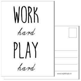 KAART / WORK HARD, PLAY HARD 4 STUKS
