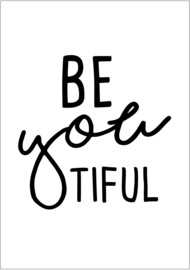 A5 KAART / BE YOU TIFUL 4 STUKS