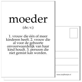 KAART / MOEDER 4 STUKS