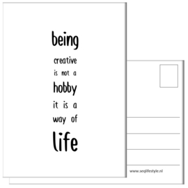 KAART / BEING CREATIVE 4 STUKS