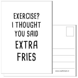 KAART / EXERCISE? 4 STUKS