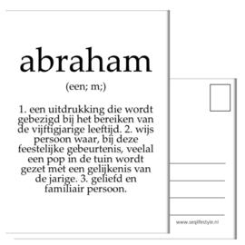 KAART / ABRAHAM 4 STUKS