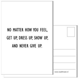 KAART / NO MATTER HOW YOU FEEL 4 STUKS