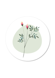 BLOEM MET GROEN VLAK (per 5 stuks)