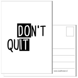 KAART / DON'T QUIT 4 STUKS