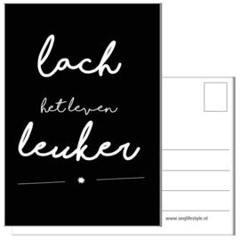 KAART / LACH HET LEVEN LEUKER 4 STUKS