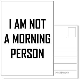 KAART / I AM NOT A MORNING PERSON 4 STUKS