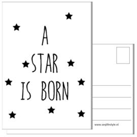 KAART / A STAR IS BORN 4 STUKS