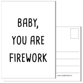 KAART / BABY, YOU ARE FIREWORK 4 STUKS