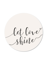 MINI LET LOVE SHINE (5 stuks)