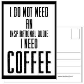 KAART / COFFEE 4 STUKS