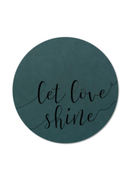 LET LOVE SHINE ZWART (per 5 stuks)