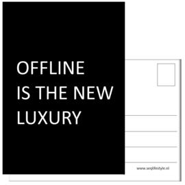 KAART / OFFLINE IS THE NEW LUXURY 4 STUKS