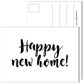 KAART / HAPPY NEW HOME! 4 STUKS