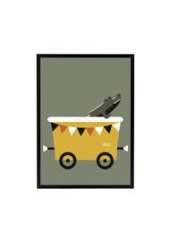 Wagon met krokodil