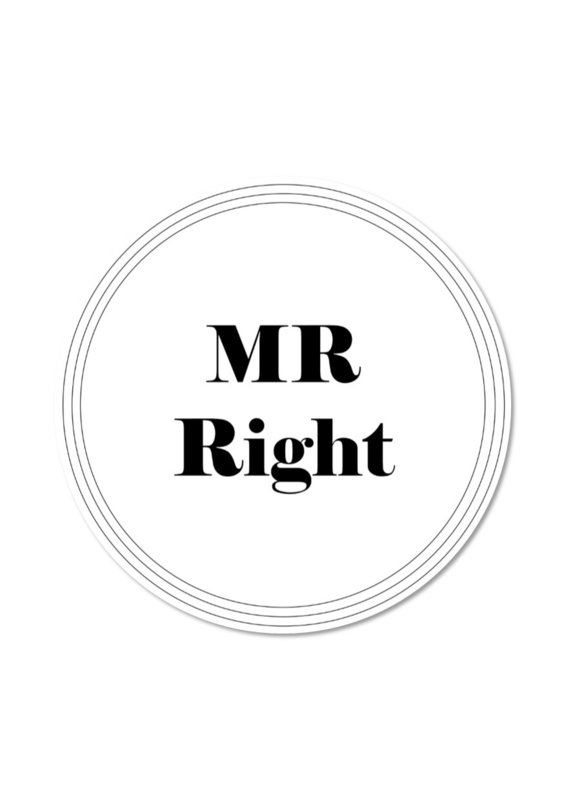 MR RIGHT (per 5 stuks)