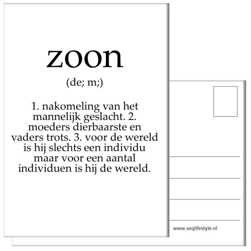 KAART / ZOON 4 STUKS
