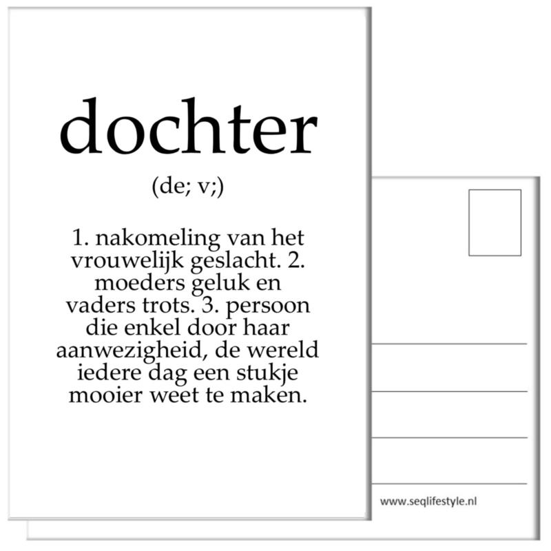 KAART / DOCHTER 4 STUKS