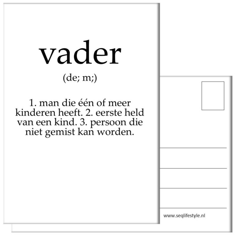 KAART / VADER 4 STUKS