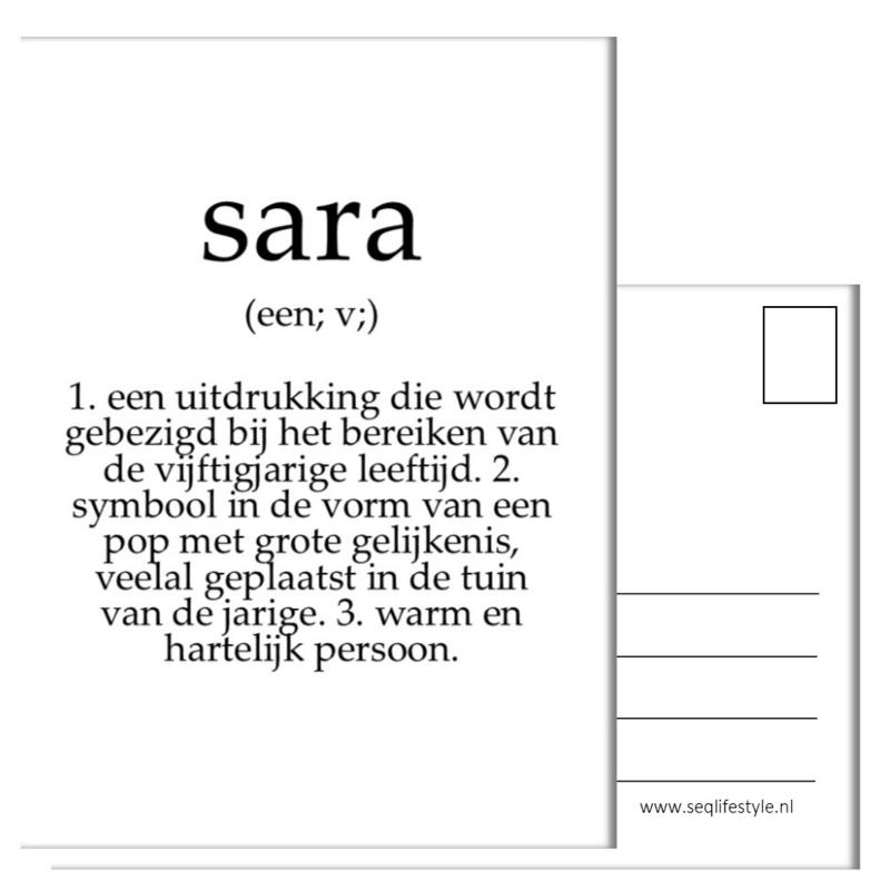 KAART / SARA 4 STUKS