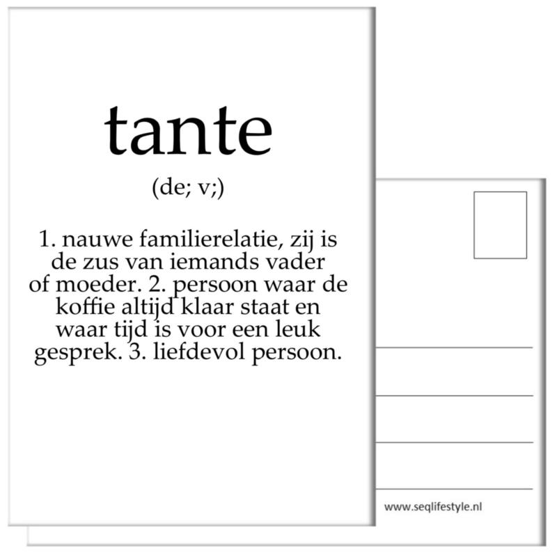 KAART / TANTE 4 STUKS