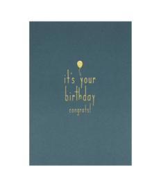 Kaart It's your Birthday