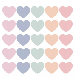 Stickers Hearts Pastel (5)