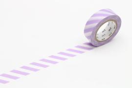 MT washi Stripe Lilac