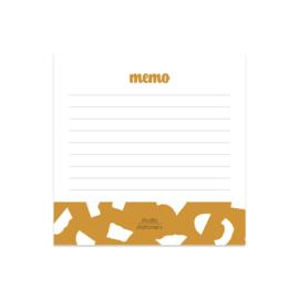 Notitieblokje Memo Ochre Confetti