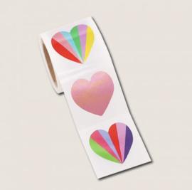 Stickers Metallic Hearts (12)