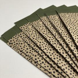 Zakjes Dots Olive Green (10)
