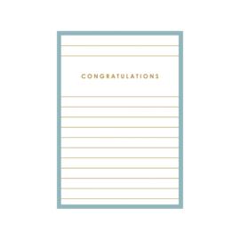 Kaart Congratulations blauw