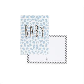 Kaart BABY blauw