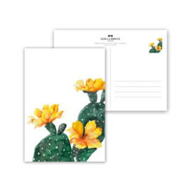 Kaart Yellow Cactus Flower
