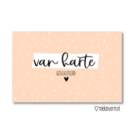 Mini Van Harte Gefeliciteerd