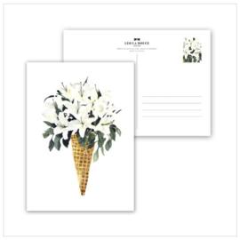 Kaart White Flower Cone