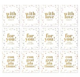 Stickers Rechthoek Goud (3)