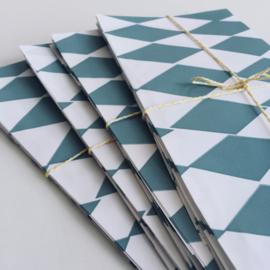 Paper Bags Square Sea Blue