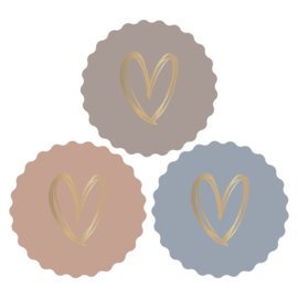 Stickers Heart Gold Autumn(3)
