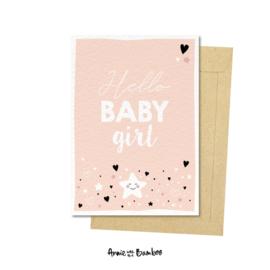 Kaart Hello Baby girl