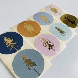 Stickers Kerst Bomen (8)