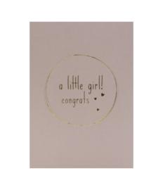 Kaart a Little Girl Congrats