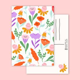 Kaart Pastel bloemen