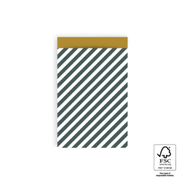 Zakjes M Stripe Petrol Yellow (10)