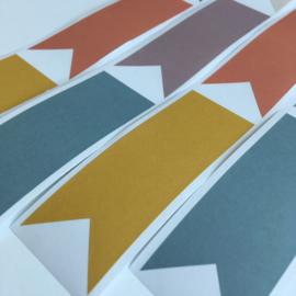 12 Stickers Labels Pastel
