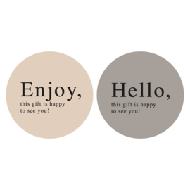 Stickers Enjoy Hello (4)