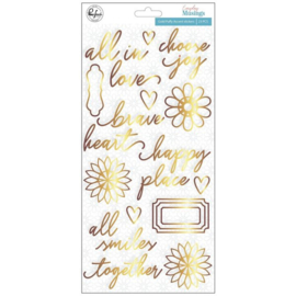 EM |  Gold Puffy Accent Stickers