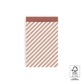 Zakjes M Stripe Diagonal Pink (10)