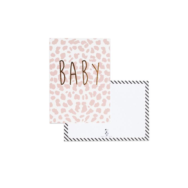 Kaart BABY roze
